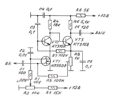 всех трех транзисторов,