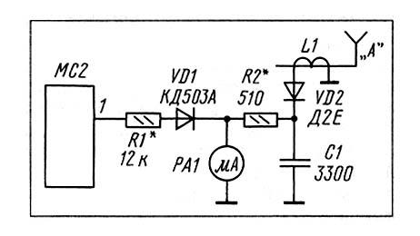 схема S-метра и индикатора